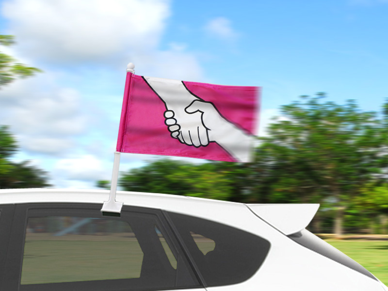 Anti-Bullying Car Flags