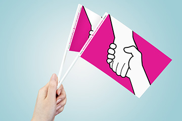 Anti-Bullying Paper Flags